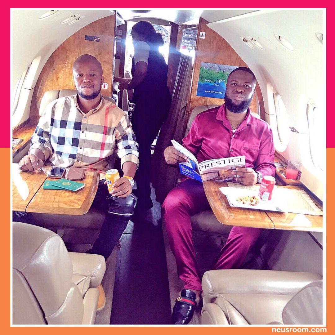 sikiru and hushpuppi private jet